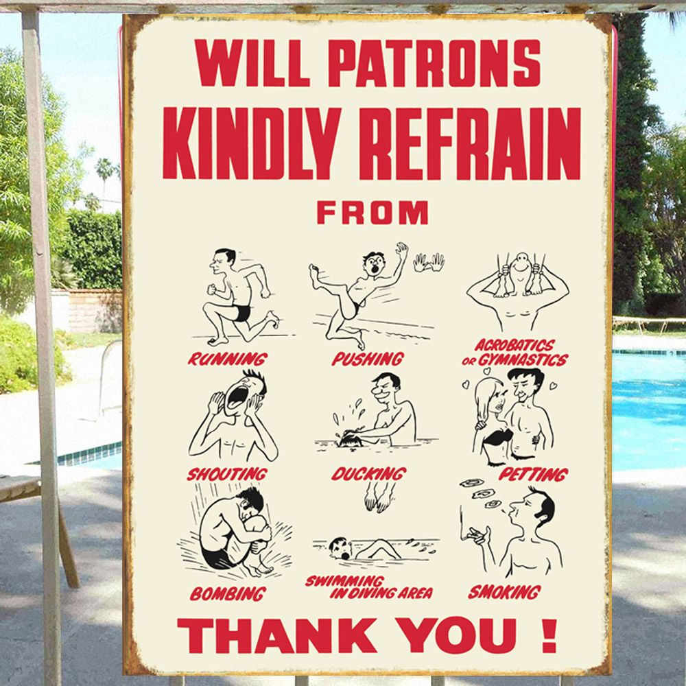 Swimming Pool Plaques Signs Wall Decor: Swimming Pool Safety